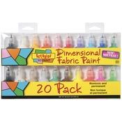 Scribbles 3D Fabric Paint 1oz 20/Pkg