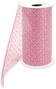 "Paris Pink - Silver Sparkle Tulle 6""X25yd Spool"