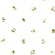 "White - Gold Sparkle Tulle 6""X25yd Spool"
