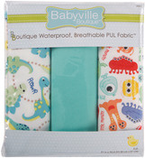 "Dinos & Monsters - Babyville PUL Waterproof Diaper Fabric 21""X24"" Cuts 3/Pkg"