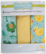 "Playful Pond & Ducks - Babyville PUL Waterproof Diaper Fabric 21""X24"" Cuts 3/Pkg"