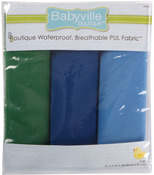 "Boy Solids - Babyville PUL Waterproof Diaper Fabric 21""X24"" Cuts 3/Pkg"