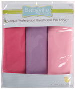 "Girl Solids - Babyville PUL Waterproof Diaper Fabric 21""X24"" Cuts 3/Pkg"