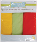"Neutral Solids - Babyville PUL Waterproof Diaper Fabric 21""X24"" Cuts 3/Pkg"