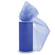 "Royal Blue W/Blue Glitter - Glitter Tulle 6""X25yd Spool"