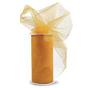 "Yellow W/Gold Glitter - Glitter Tulle 6""X25yd Spool"