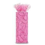 "Pink W/Fuchsia Glitter - Glitter Curves Tulle 6""X10yd Spool"