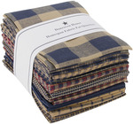 "Navy - Homespun 18""x21"" Fat Quarters 12pcs"
