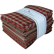 "Red - Homespun 18""X21"" Fat Quarters 12pcs"