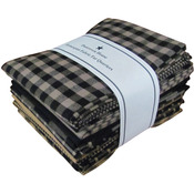 "Black - Homespun 18""X21"" Fat Quarters 12pcs"