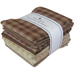 "Brown & Natural - Homespun 18""X21"" Fat Quarters 12pcs"