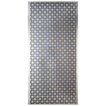 "Union Jack - Silver Colored Metal Sheet 12""X24"""