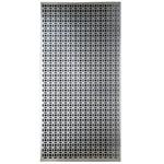 "Elliptical - Silver Colored Metal Sheet 12""X24"""