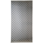 "Mosaic - Silver Colored Metal Sheet 12""X24"""