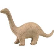 "Brontosaurus - Paper Mache Figurine 4.5"""