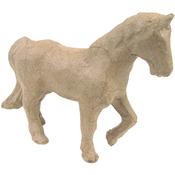 """Trotting Horse - Paper Mache Figurine 4.5"""""""