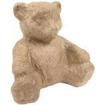 """Bear - Paper Mache Figurine 4.5"""""""