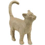 """Cat - Paper Mache Figurine 4.5"""""""