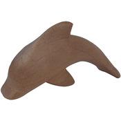 "Dolphin - Paper Mache Figurine 4.5"""