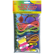Assorted Neons - Bungee Cord Super Value Pack 5 Colors/Pkg 15' Total