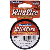 "Black - Wildfire Stringing Thread .006"" (.15mm) Diameter 50yd/Pkg"