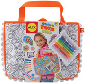 Color A Tote Bag Kit Paisley Flower