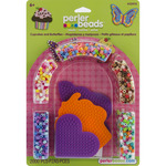 Cupcakes & Butterflies - Perler Fun Fusion Fuse Bead Activity Kit