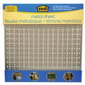 "Elliptical - Silver Colored Metal Sheet 12""X12"""