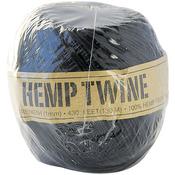 Black - Hemp Cord 20# 400'/Pkg