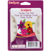 Flowers & Leaves - Sculpey Flexible Push Mold