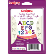 Letters & Numbers - Sculpey Flexible Push Mold
