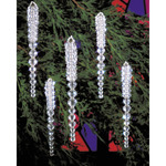 "Sparkling Icicles 3.75"" Makes 30 - Holiday Beaded Ornament Kit"