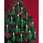 """Mini Trees 2.25"""" Makes 24 - Holiday Beaded Ornament Kit"""