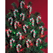 "Mini Candy Canes 2"" Makes 24 - Holiday Beaded Ornament Kit"