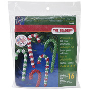Candy Cane Assortment - Holiday Beaded Ornament Kit