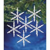 "Ice Crystal Snowflake 3"" Makes 12 - Holiday Beaded Ornament Kit"