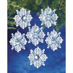 "Filagree Snowflake 1.75"" Makes 12 - Holiday Beaded Ornament Kit"