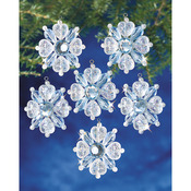 "Filagree Snowflake 1.75"" Makes 12 - Holiday Beaded Ornament Kit"