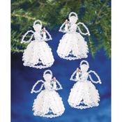 "Caroling Angels 4"" Makes 4 - Holiday Beaded Ornament Kit"