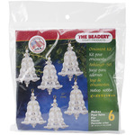 Crystal & Pearl Bell - Holiday Beaded Ornament Kit