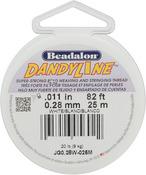 """White - Dandyline Stringing Thread .011"""" (.28mm) Diameter 82ft/Pkg"""