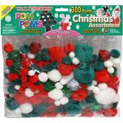 Christmas - Pom-Poms Assorted 300/Pkg