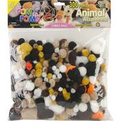 Animal - Pom-Poms Assorted 300/Pkg