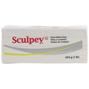 White - Sculpey III Polymer Clay 1lb