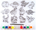 Dinosaur 12/Pkg - Suncatcher Group Activity Kit