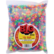 Neon Multicolor - Pony Beads 9mm 1lb/Pkg