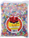Pearlized Multicolor - Pony Beads 9mm 1lb/Pkg