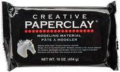 White - Creative Paperclay 16 Ounces