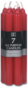 """Red - All Purpose Unscented Taper Candles 7"""" 7/Pkg"""