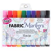 Rainbow - Tulip Fabric Markers 10/Pkg